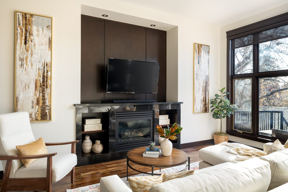 Living Room Interior Design Tuxedo Park Calgary