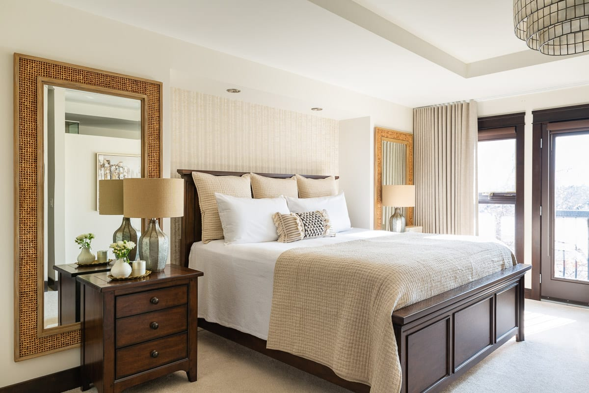 Master Bedroom Interior Design Tuxedo Park Calgary